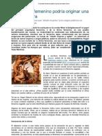 EL PRINCIPIO FEMENINO PODRÍA ORIGINAR UNA NUEVA CULTURA - MARTINEZ