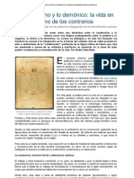 Entre Lo Divino y Lo Demoniaco La Vida en El Dramatismo de Los Contrarios - Ortiz