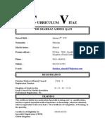 Curriculum Vitae for Locum and Job