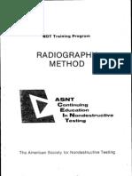 Radiography Method Training