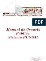 Manual Registros de Empresas y Productos