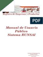 Manual Registros de Empresas y Productos