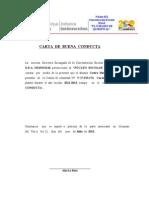 Ejemplo Carta de Buena Conducta