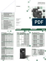 Mitsubishi D700 VFD POCKET_GUIDE_2009-03