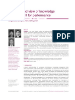 An integrated view of knowledge management for performance
