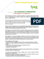 Call for FYEG Election Campaign Coordinator.