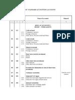 Chart of Standard Accounts English