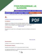 GLOSSAIRE  PARASISMIQUE