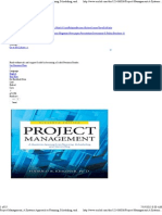 Project Management; A Systems Approach to Planning, Scheduling, And Controlling