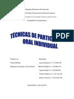 Tecnicas de Participacion Oral Individual