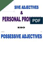 possessive adjectives personal pronouns