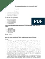 Örnek Lisans İngilizce Yeterlilik Sınavı (1)