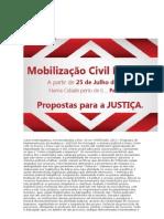 Mobilização civil nacional - Propostas para a Justiça