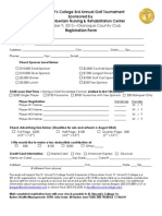 Reg Forms SVC 3rd Annual Golf Tournament