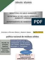 RESÍDUOS  SÓLIDOS - Ministério do Meio Ambiente