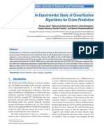 An Experimental Study of Classification Algorithms for Crime Prediction