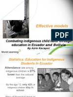 Combating indigenous child labor through education in Ecuador and Bolivia by Azra Kacapor