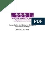 Solidarity Delegation 2013 Information Package