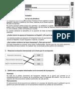 12 Ficha de trabajo. España durante el Franquismo