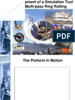 Multi-pass ring rolling simulation presentation