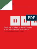 Guida alle citazioni bibliografiche per le arti e le discipline umanistiche