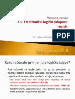 Elektronicki Logicki Sklopovi i Registri