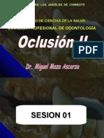 Sesión 01- Oclusion II