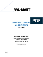 Sample Document Wal Mart Outside Counsel Guidelines