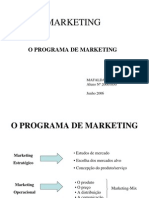 O Programa de Marketing