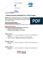 Freeway Closures Scheduled for I-10 HOV Project