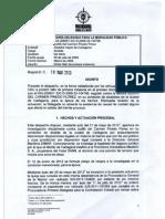 Fallo Procuraduria - Judith Pinedo