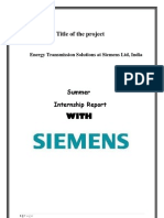 Siemens internship report