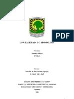 Case LBP Spondilosis