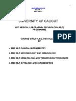 New Revised Msc Mlt Calicut