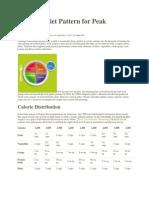 A Simple Diet Pattern for Peak Nutrition