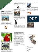 Animales oriundos del Perú