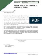 806 MULTA - AGRESIÓN AL PERSONAL