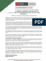 MINISTRO DEL INTERIOR JURAMENTÓ A MÁS DE 3 MIL 500 INTEGRANTES DE JUNTAS VECINALES DE LIMA, CALLAO Y LIMA PROVINCIAS