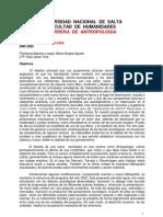 Programa Sociología de Antropología 2006