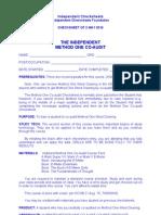 IC - Method One Checksheet