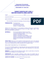 IC - Level v NED Checksheet