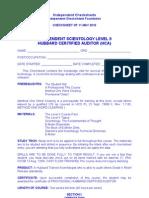 IC - Level II Checksheet