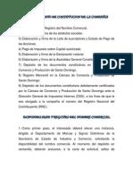 PROCEDIMIENTO DE CONSTITUCION DE LA COMPAÑIA