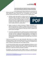 Pronunciamiento CFCCSS sobre la elección de Congreso de los cargos del TC y la Defensoría del Pueblo