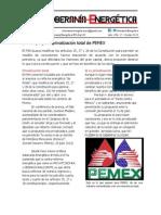 17.- El PAN propone privatización total de PEMEX