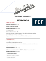 Programação Semana PUR 2013