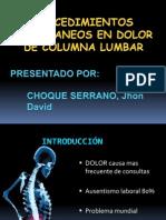 procedimientos percutaneos en dolor de columna lumbar.ppsx