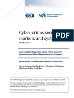 IOSCO-WFE Report -Cyber-Crime, Securities Markets and Systemic Risk