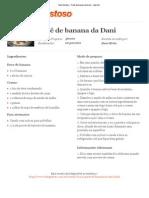 Tudo Gostoso - Pavê de banana da Dani - Imprimir