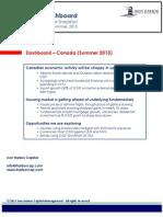 Dashboard - Canada (Summer 2013)